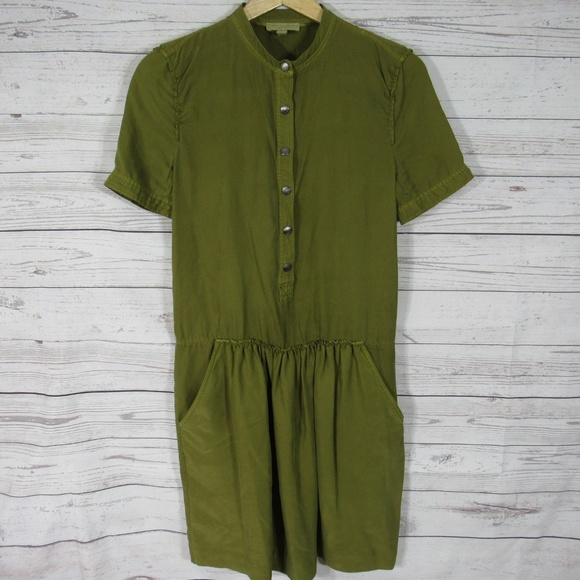 Burberry Dresses Brit Dress Womens 4 Green 100 Mulberry Poshmark